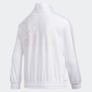 Adidas sport tricoat jacket sky tint pastel